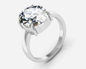 Kiara Jewellery Certified Isphetic 3.0 Cts Or 3.25 Ratti Isphetic Ring
