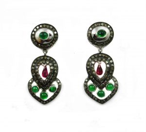 5.51ct Real Diamond Andruby Emer Victorian Earring