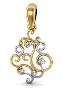 vipul,surat tex,avsar,hoop,fasense,ag,see more,parineeta,azzra,gili,oviya Pendants (Imitation) - Avsar Real Gold and Diamonds Ganesh Shape Pendant  GOD006