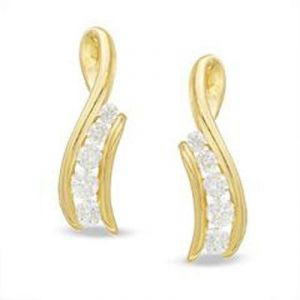 Journey Of Life 14k Gold Diamond Earrings