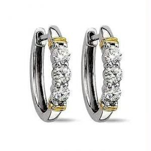 Hoop Of Life 14k Gold Diamond Earrings