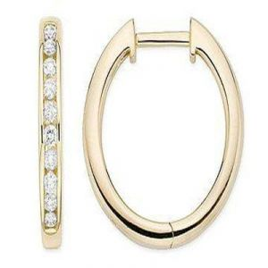 Avsar,Ag,Lime,Kalazone,Clovia Diamond Jewellery - Hoop Of Life 14k Gold Diamond Earrings
