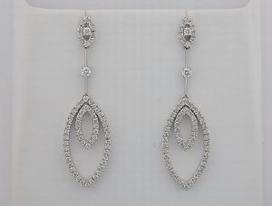 1.65 Ct Diamond White Gold Earrings Inte022