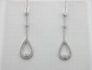 Avsar,Parineeta,Valentine Women's Clothing - 0.80 CT DIAMOND WHITE GOLD EARRINGS INTE024