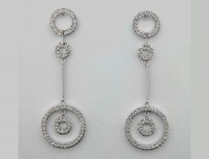 1.90 Ct Diamond White Gold Earrings Inte025