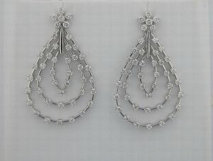 1.80ct Diamond White Gold Earrings Inte026