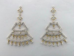 2.75 Ct. Diamond Yellow Gold Earrings Inte033