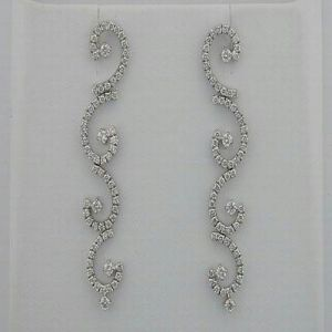 2.30 Ct Diamond White Gold Earrings Inte046