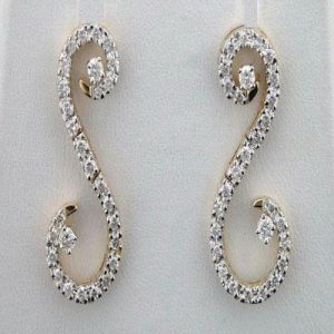 Avsar,Ag,Triveni,Flora,Cloe Diamond Jewellery - 1.15 CT Diamond Yellow Gold Earrings INTE047