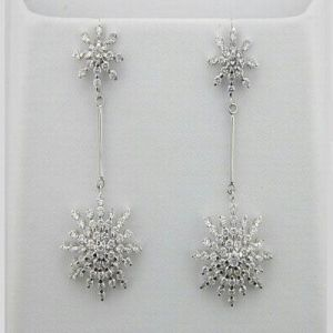 3.05 Ct. Diamond White Gold Earrings Inte049