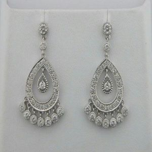 1.25 Ct Diamond White Gold Earrings Inte050