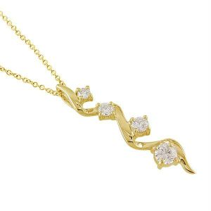 Journey Of Life 14k Gold Diamond Pendant