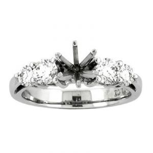 Diamond Rings - Semi Mount Of Life 14k Gold Diamond Ring