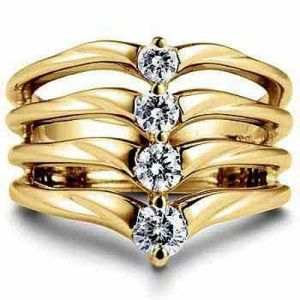 Fashion Of Life 14k Gold Diamond Ring