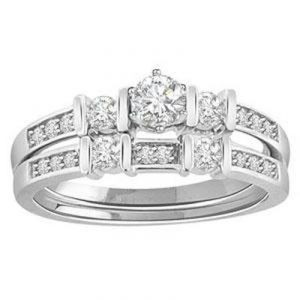 1.00 Ct Bridal 14k Gold Diamond Ring