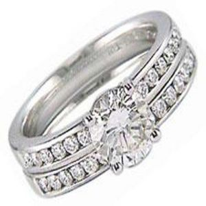 1.07ct Bridal 14k Gold Diamond Ring