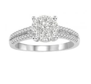 0.47 Ct Engagement 14k Gold Diamond Rings Intr0038