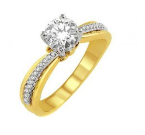 0.39 Ct Engagement 14k Gold Diamond Rings Intr0041