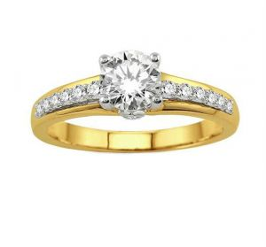 0.40 Ct Engagement 14k Gold Diamond Rings Intr0042