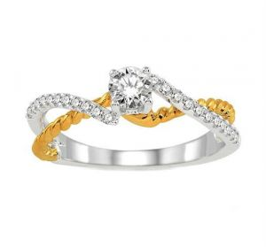 0.30 Ct Engagement 14k Gold Diamond Rings Intr0044