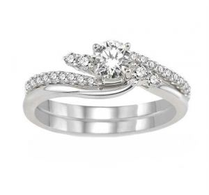 0.40 Ct Engagement 14k Gold Diamond Rings Intr0055