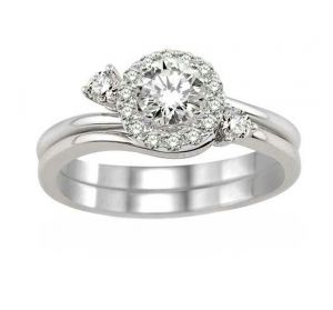 0.50 Ct Engagement 14k Gold Diamond Rings Intr0056
