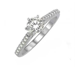 0.30 Ct Engagement 14k Gold Diamond Rings Intr0058
