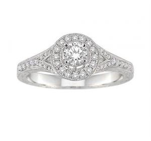 0.50 Ct Engagement 14k Gold Diamond Rings Intr0060