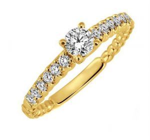 0.33 Ct Engagement 14k Gold Diamond Rings Intr0061