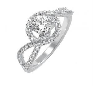 0.42 Ct Engagement 14k Gold Diamond Rings Intr0064