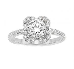 0.50 Ct Engagement 14k Gold Diamond Rings Intr0065