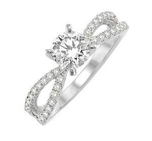 0.47 Ct Engagement 14k Gold Diamond Rings Intr0066