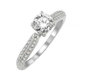 0.39 Ct Engagement 14k Gold Diamond Rings Intr0067