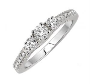 0.40 Ct Engagement 14k Gold Diamond Rings Intr0069