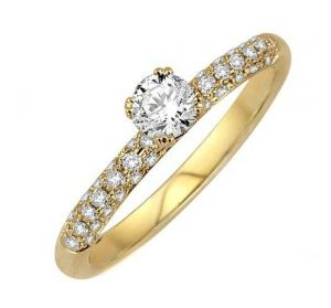 0.40 Ct Engagement 14k Gold Diamond Rings Intr0072
