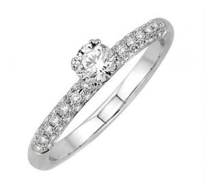 0.40 Ct Engagement 14k Gold Diamond Rings Intr0073