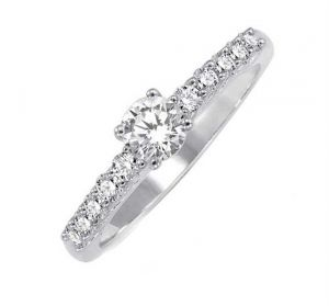 0.30 Ct Engagement 14k Gold Diamond Rings Intr0079