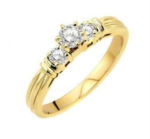 0.30 Ct Engagement 14k Gold Diamond Rings Intr0083