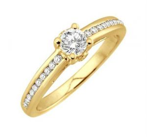 0.31 Ct Engagement 14k Gold Diamond Rings Intr0084