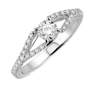 0.41 Ct Engagement 14k Gold Diamond Rings Intr0085