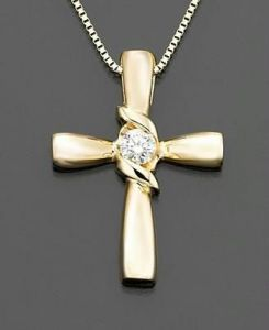 Cross Of Life 14k Gold Diamond Pendant