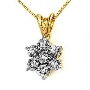 Fashion Of Life 14k Gold Diamond Pendant