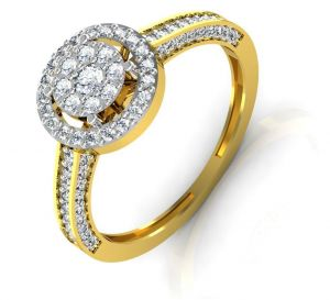 Avsar Real Gold And Swarovski Stone Vishakha Ring Intr032yb