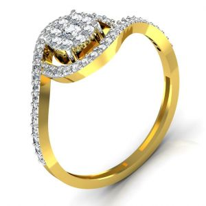 Avsar,Ag,Lime,Clovia,Gili,See More,Kiara,Kaara,N gal Gold Jewellery - Avsar Real Gold and Diamond Rajastan Ring INTR036A
