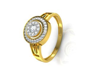 Avsar Real Gold And Diamond Patana Ring Intr037a