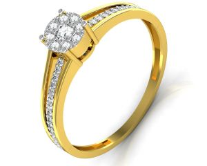 Avsar Real Gold And Diamond Jammu Ring Intr043a