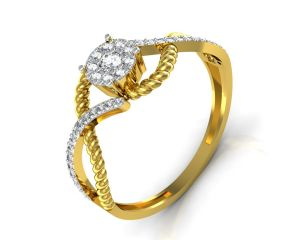 Avsar Real Gold And Diamond Pratiksha Ring Intr044a