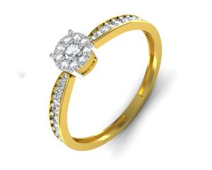 Avsar,Ag,Lime,Kalazone,Clovia,Gili,Kiara,Kaara,N gal Gold Jewellery - Avsar Real Gold and Diamond Supriya Ring INTR046A
