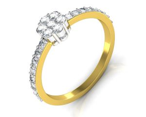 Avsar Real Gold And Diamond Parineeti Ring Intr053a