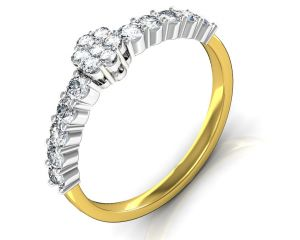 Avsar Real Gold And Diamond Aakansha Ring Intr063a